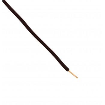 Wire - Single core - Flexible - Ø2.15mm 0.5mm2 - Black - 1m