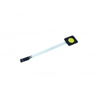 Membrane Keypad - 1 Button - Yellow