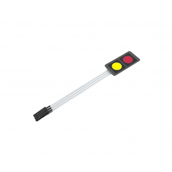 Membrane Keypad - 2 Buttons - Red-Yellow