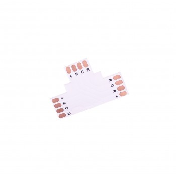 LED Strip T-Shaped Coupler - 4p 10mm - Standard RGB-WS2813-WS2815 - 10 pieces
