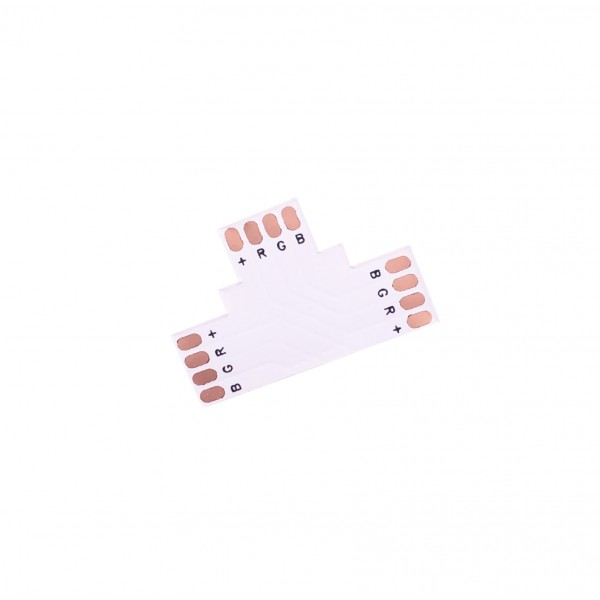 LED Strip T-Koppelstuk - 4p 10mm - Standaard RGB-WS2813-WS2815 - 10 stuks