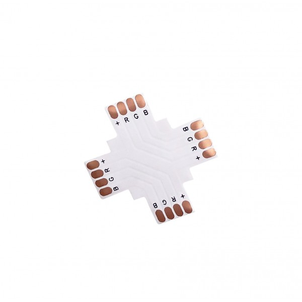 LED Strip X-Koppelstuk - 4p 10mm - Standaard RGB-WS2813-WS2815 - 10 stuks