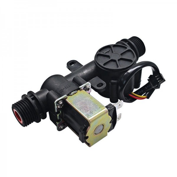"""Solenoid Valve with Water Flow Sensor - Normally Closed - Nylon - G1/2"""""""