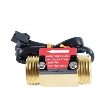 "YF-B1 Water Flow Sensor - Brass - G1/2"""