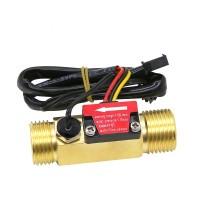 "YF-B7 Water Flow Sensor with Temperature Sensor - Brass - G1/2"""
