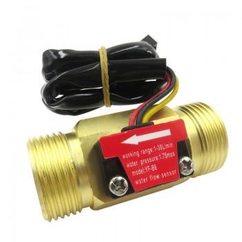 "YF-B6 Water Flow Sensor - Brass - G3/4"""