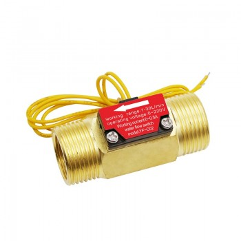 "YF-C02 Water Flow Switch - Normally Open - G3/4"""