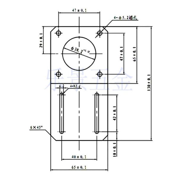 Bracket for Stepper Motor - 57mm - NEMA23 - Straight