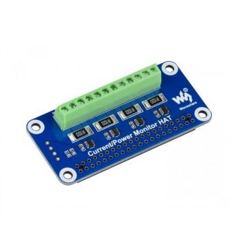 Waveshare Stroom Spanning en Vermogen Monitor HAT - 4 Kanalen - voor Raspberry Pi