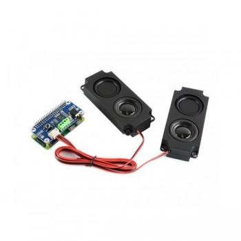 Waveshare WM8960 Audio HAT - inclusief Speaker Set - voor Raspberry Pi