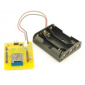 ESP8266-12 board met Batterijhouder