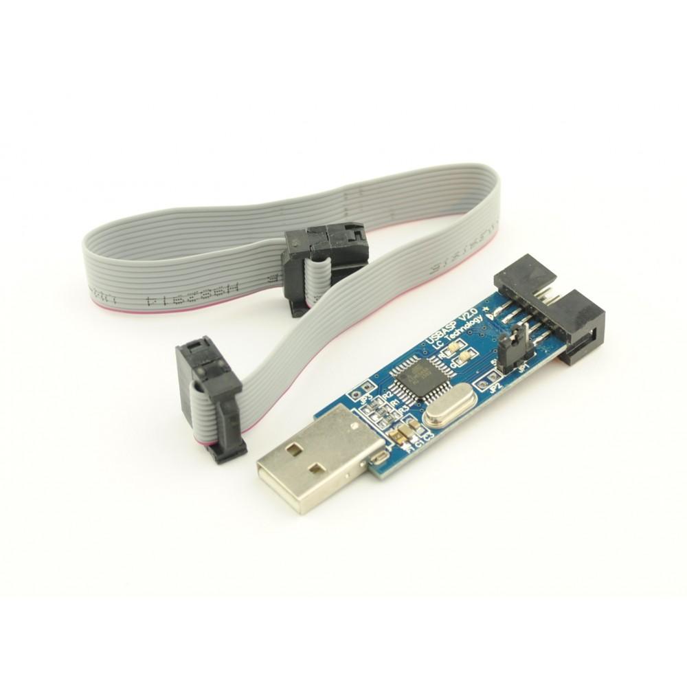 USBasp - USB AVR Programmer met flatcable
