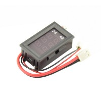 Current and Voltage meter with segment display - 7-100VDC 10ADC