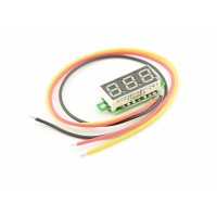 Voltage meter with segment display - Green - Small