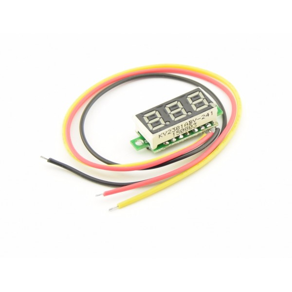 Voltage meter with segment display - Yellow - Small