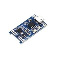 TP4056 Micro-USB Li-ion lader 1A met Li-ion protection circuit