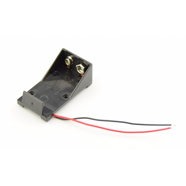 9V Battery holder with loose wires