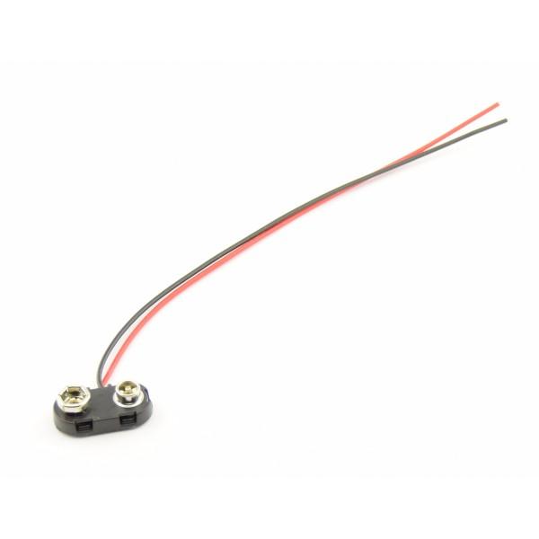 9V Batterij clip met losse draden - 15cm - T-HARD