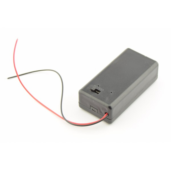 9V Battery box with loose wires en switch