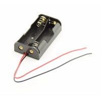 2x AA Battery holder with loose wires