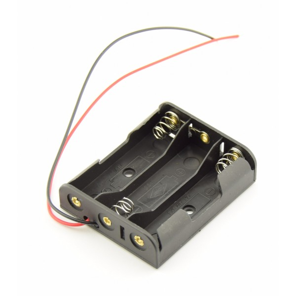 3x AA Battery holder with loose wires