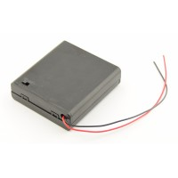 4x AA Battery box with loose wires and switch