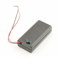 2x AA Battery box with loose wires and switch