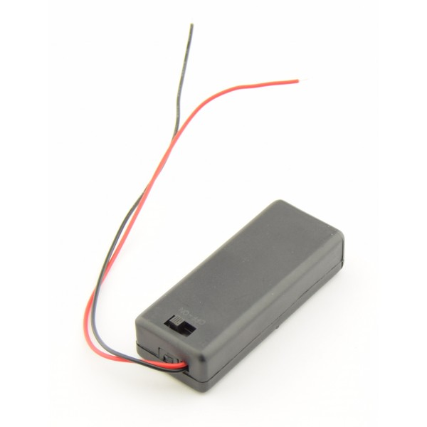 2x AAA Battery box with loose wires and switch
