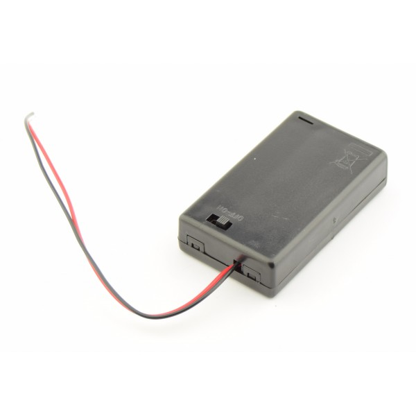 3x AAA Battery box with loose wires and switch