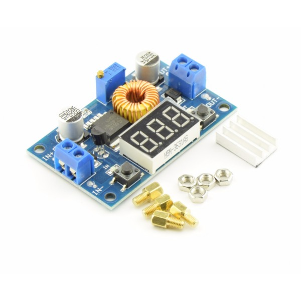 DC-DC Adjustable Step-down Buck Converter XL4015 4A - with voltage meter