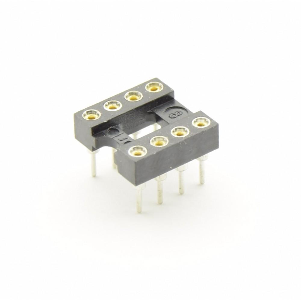 8 Pins IC voet - Dubbelzijdig soldeerbaar