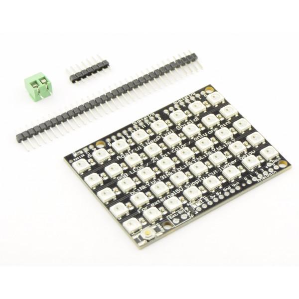 WS2812B Digital 5050 RGB LED - Shield 40 LEDs - 8x5 Matrix