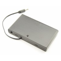 8x AA Battery box with DC jack and switch