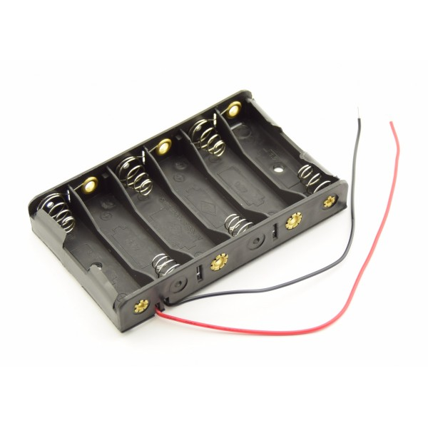 6x AA Battery holder with loose wires