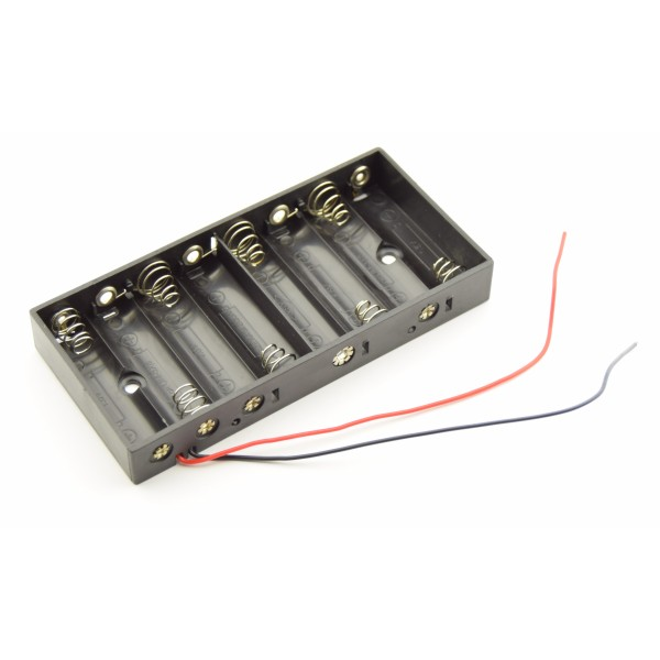 8x AA Battery holder with loose wires
