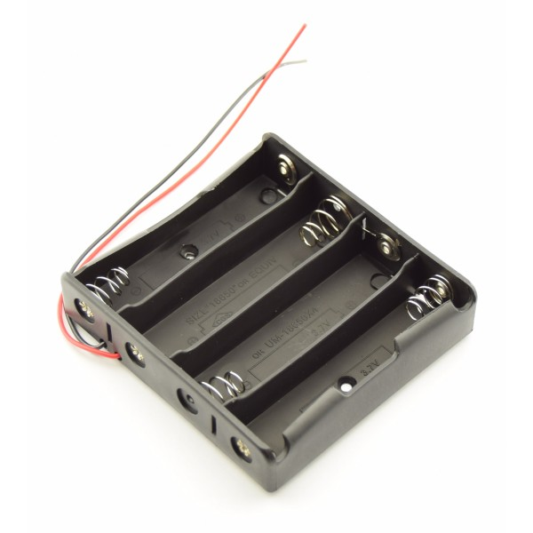 4x 18650 Battery holder with loose wires