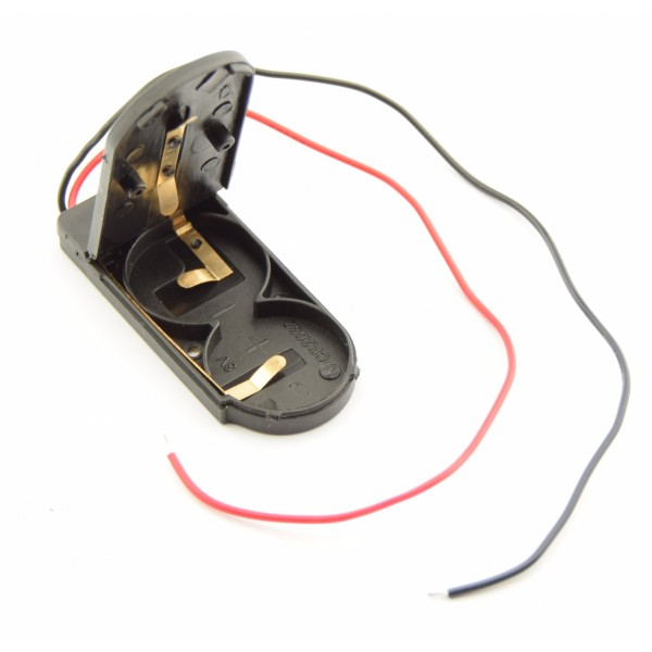 2x CR2032-LIR2032 Battery Holder with Loose Wires and Switch