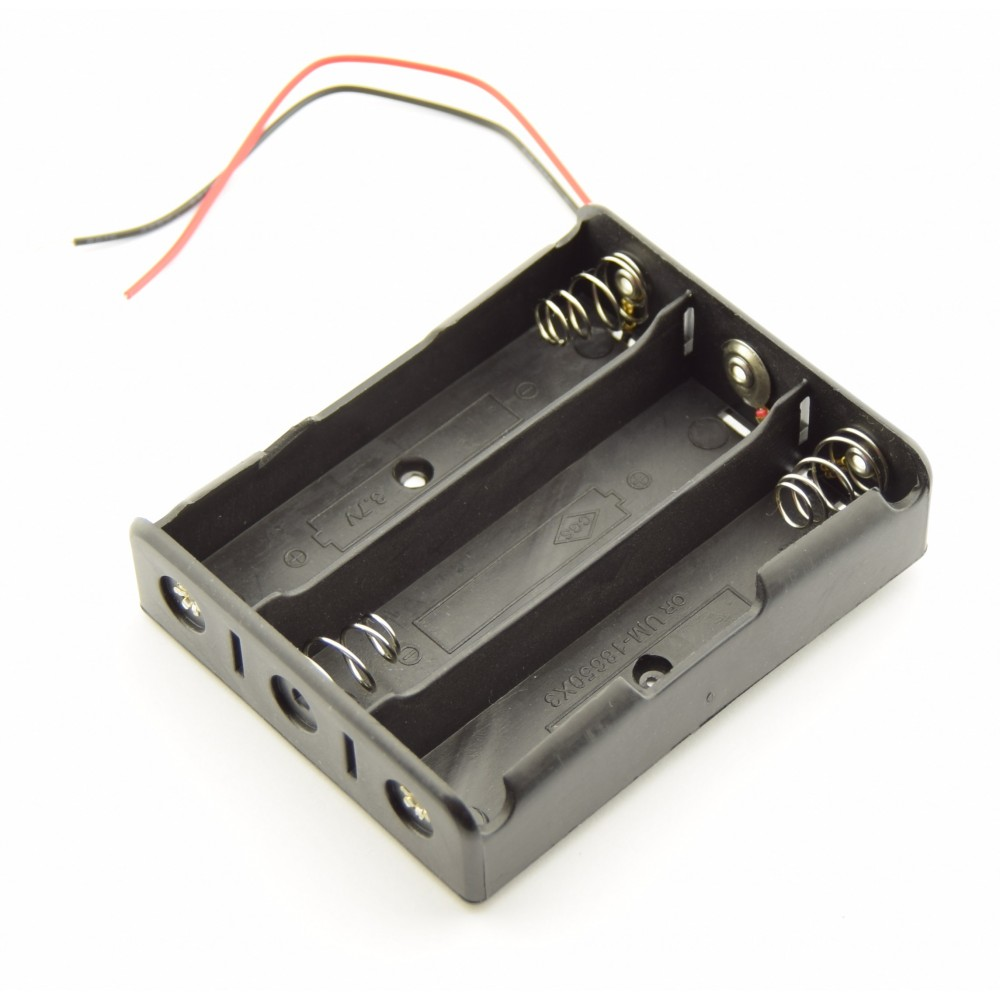 3x 18650 Battery holder with loose wires