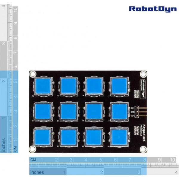 RobotDyn Keypad 3x4 Matrix - Analog