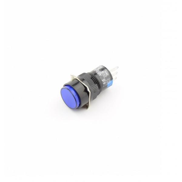 Blue Push button 16mm - Reset