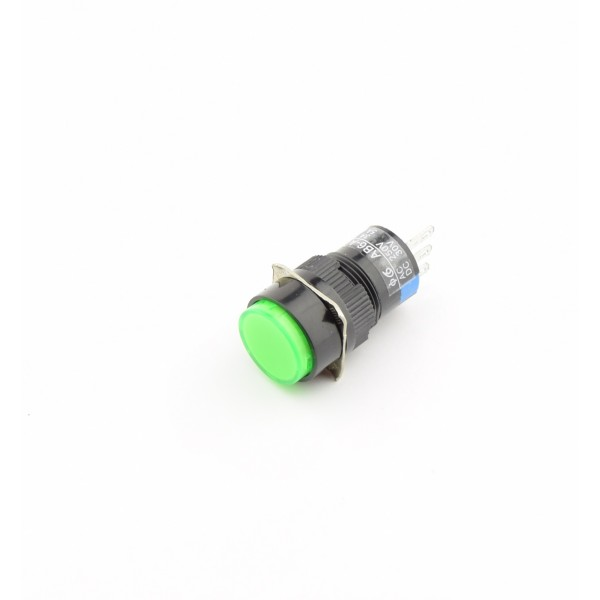 Green Push button 16mm - On/Off