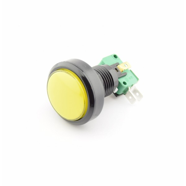 Large Yellow Push button 24mm of 40mm - Reset