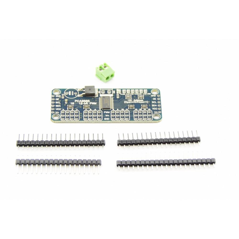 16-kanaals I2C PWM-Servo Controller - PCA9685 - Separate headers -  16CHPCA9685MOD
