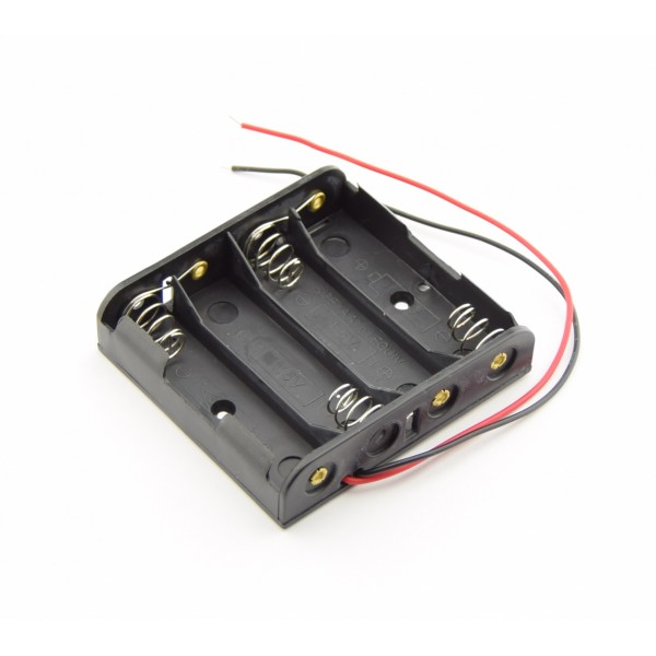 4x AA Battery holder with loose wires
