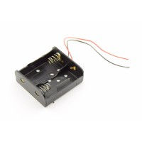 2x C Battery Holder with Loose Wires