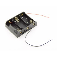 3x C Battery Holder with Loose Wires