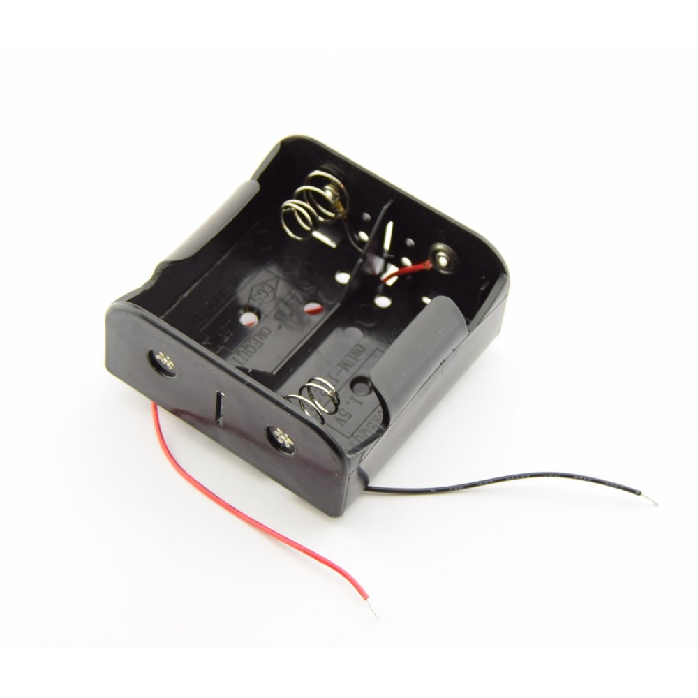 2x D Battery holder with loose wires