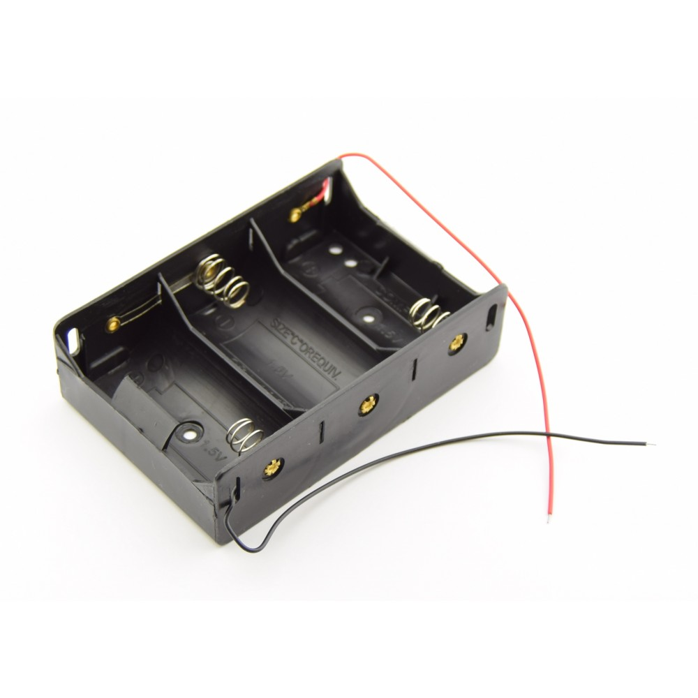 3x D Battery holder with loose wires