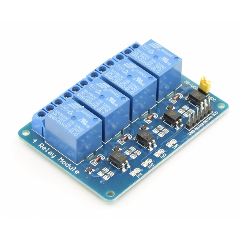 5V relais 4-channel laag-actief