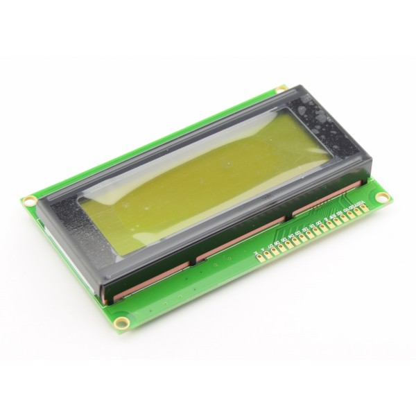 LCD Display 20*4 characters with black text and green-yellow backlight
